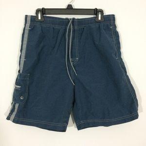 Old Navy Mens M Navy Blue Swim Suit Trunks Shorts
